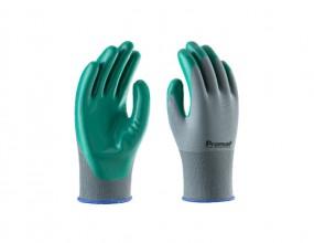 Luva Verde Poliamida sem costura com PVC